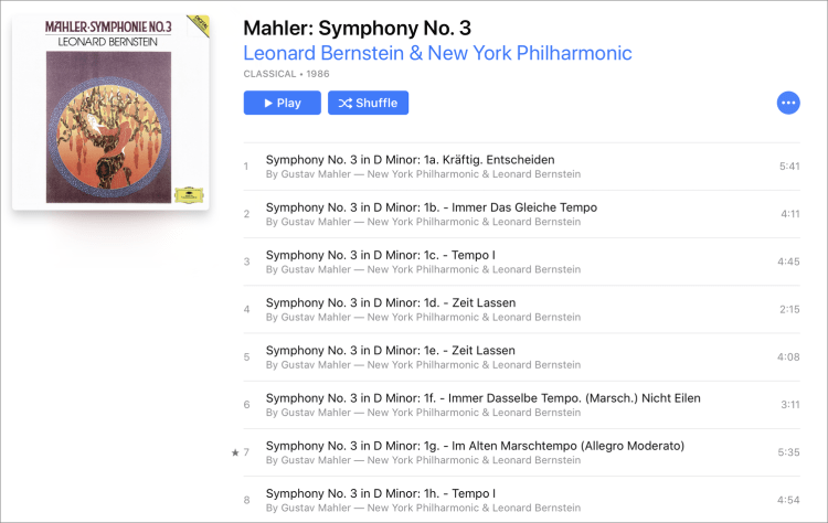 Mahler sliced