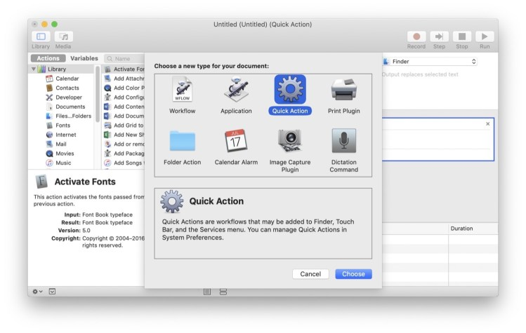 Kirkville - How to Convert Automator Workflows to Finder