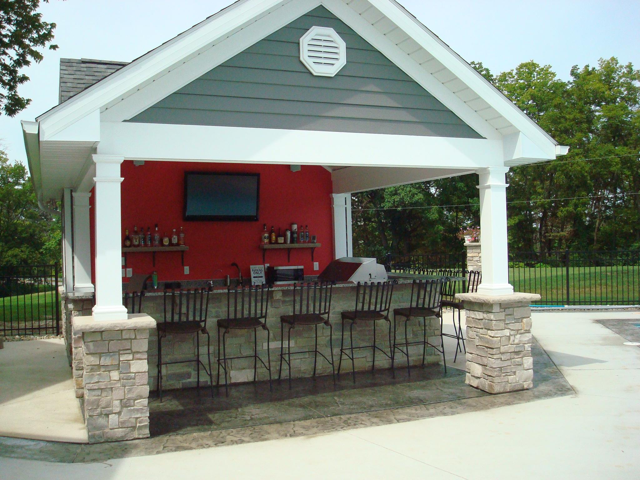 Outdoor Living | Kirk Wylie Masonry on Backyard Pool Bar Designs  id=69546