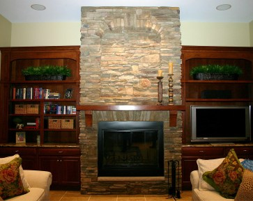 5-cultured stone-gas ifreplace-Perrysburg-Parade of homes