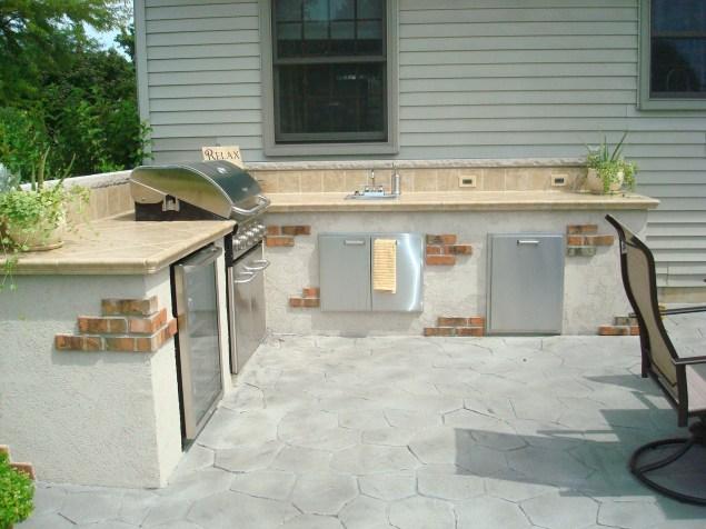 Bowling Green-Outdoor kitchen-dryvit-brick-southwestern design-stainless steel appliances