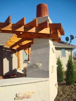 Bryan Ohio, outdoor fireplace, bbq, sit wall, bar, Pergola, Pati 014