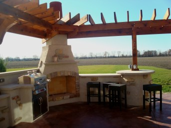 Bryan Ohio-outdoor fireplace-bbq-sit wall-bar-Pergola-Patio