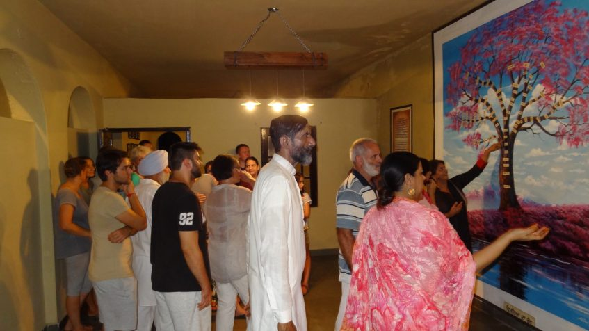 Guided tour with Sarabjit Mangat (front right)