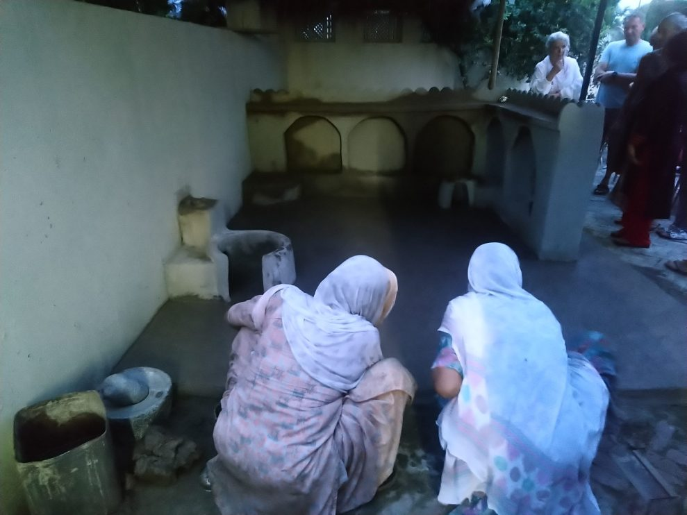 The traditional kitchen made out of clay