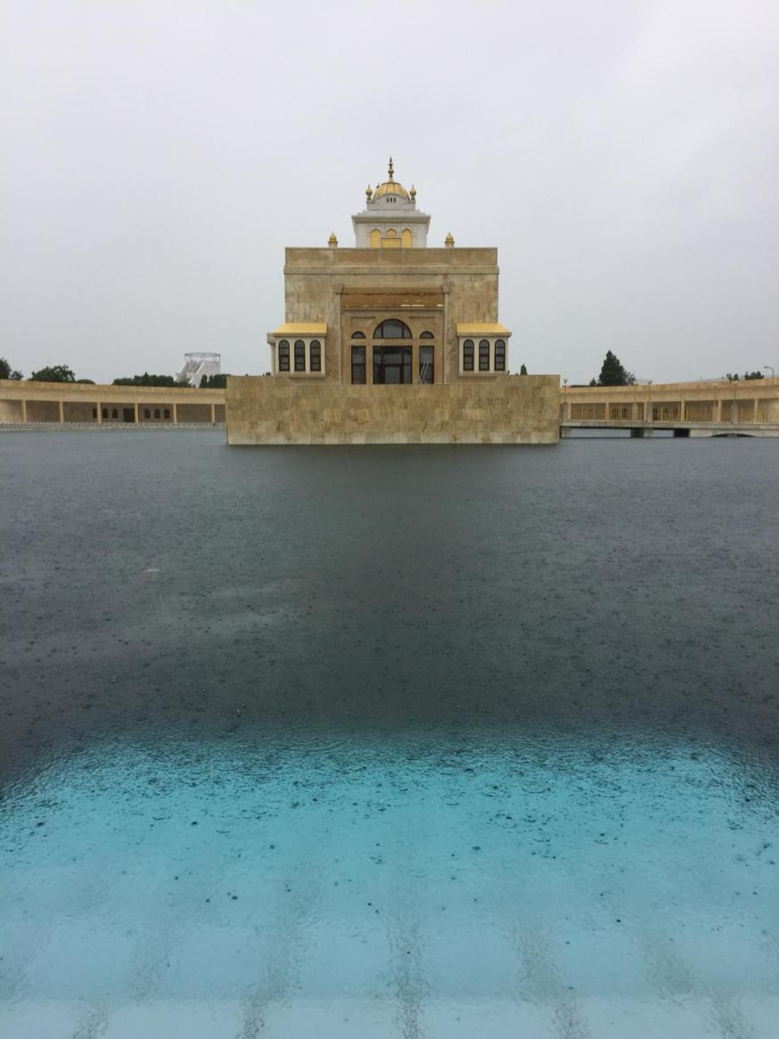 Sarovar on a rainy day, Aug 17th