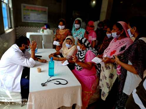 Medical camps in surroundings