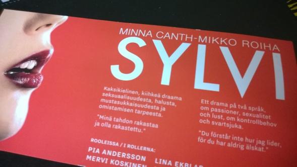 Minna Canthin teokset eivät vanhene. Tällä hetkellä Sylvi kiertää Suomen teattereita.