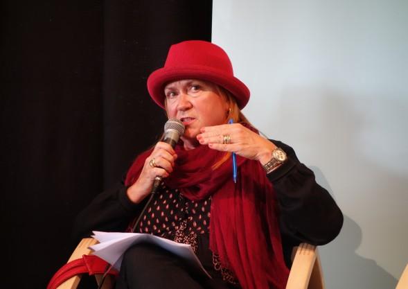 Anja Snellman Turun kirjamessuilla 2015