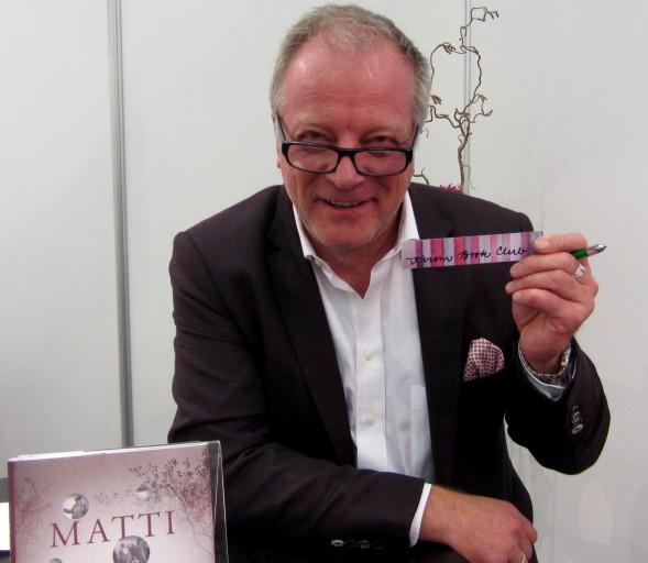 Tapasimme Matti Röngän myös Turun Kirjamessuilla lokakuussa 2015