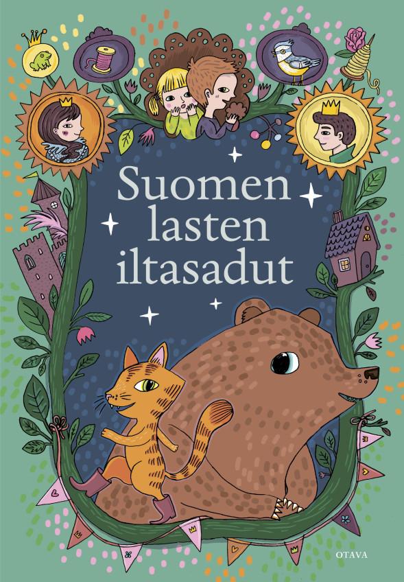 Laila Hirvisaaren ja Anja Salokanteleen uutuus: Suomen lasten iltasadut. Kuvitus Emmi Jormalainen.