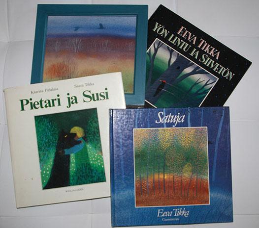 Saara Tikan kuvittamia lastenkirjoja.
