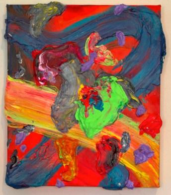 Globs, 8×10 inches, acrylic on canvas, 2014