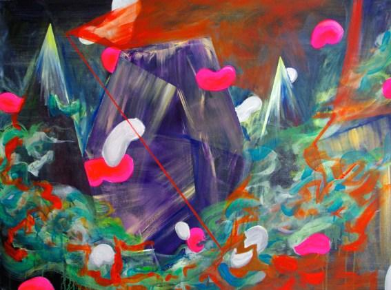 Jellybean Mountain, 30×40 inches, acrylic on canvas, 2013