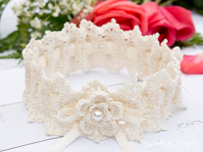 Wrapped In Lace Bridal Garter, Easy Crochet Pattern For
