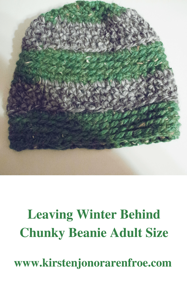 Leaving Winter Behind Chunky Beanie Adult Size Crochet Pattern Pinterest Size, beanie, winter, snow, snowing, hat, cozy,, free crochet pattern
