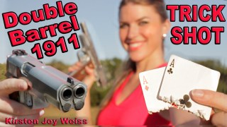 Double Barrel 1911 Trick Shot Kirsten Joy Weiss