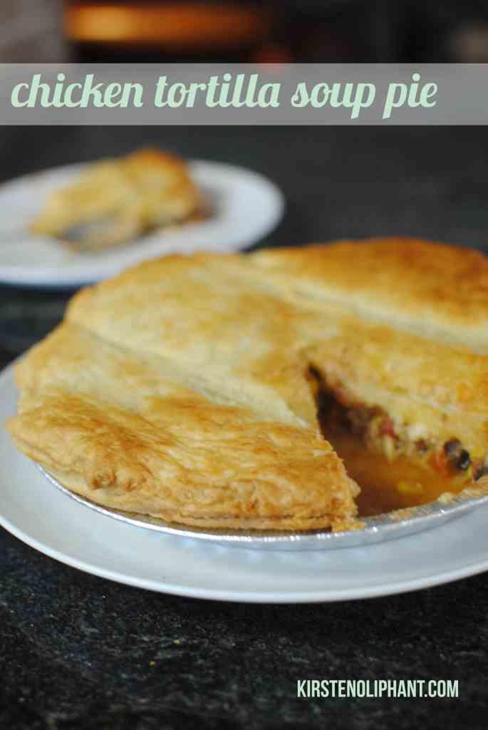 Chicken Tortilla Soup Pie- KirstenOliphant.com