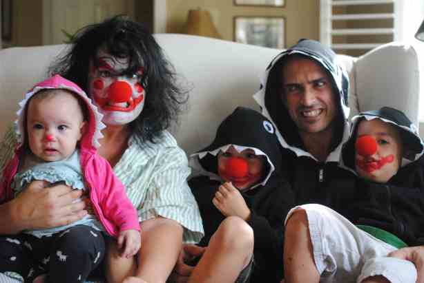 Family Halloween Costume: Clown Shark
