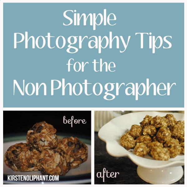 A few simple tips for improving your photography. Especially great for food photos!