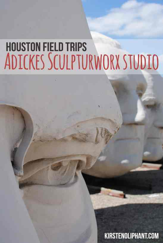 Adickes Sculpturworx in Houston is a great place to learn about presidents and art! With no rules not to touch and no tour guides, make this a field trip suited to what you want to do.