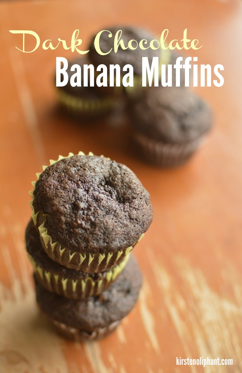 You won't go back to regular banana muffins after trying these special dark chocolate banana muffins!