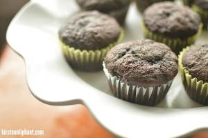These decadent dark chocolate banana muffins come out perfectly every time. Easy, delicious, and rich with special dark cocoa!