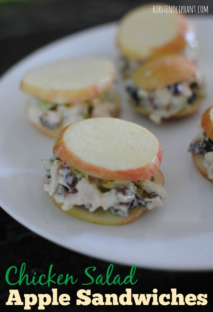 The crunch of fresh apple with the softness of chicken salad--amazing & simple!