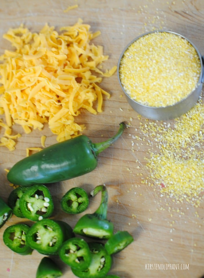 Jalapenos and cheddar give this creamy polenta recipe a nice bite.