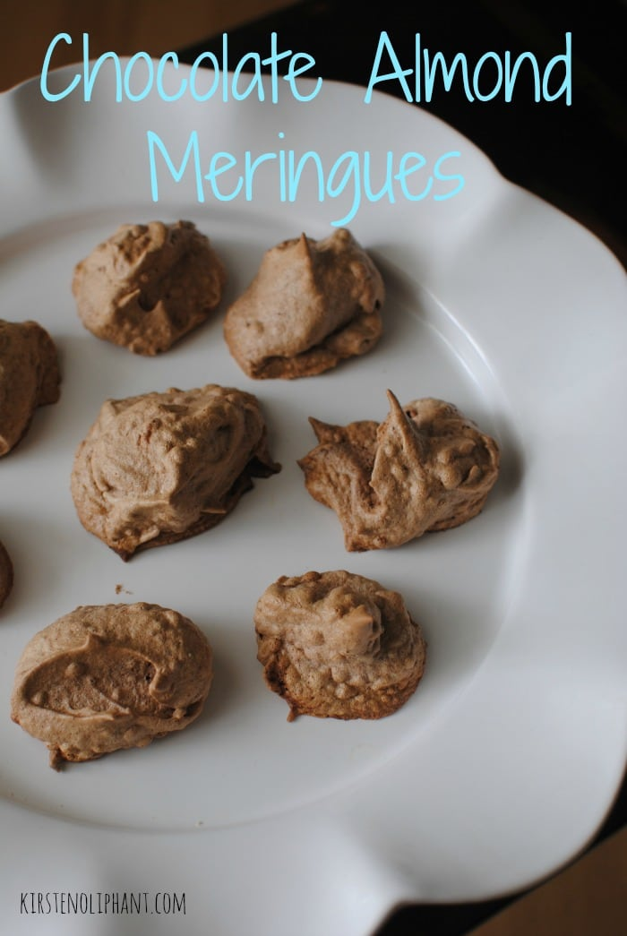 Light on the sweetness and the fat, these chocolate almond meringue cookies are as close to guilt-free as it gets.