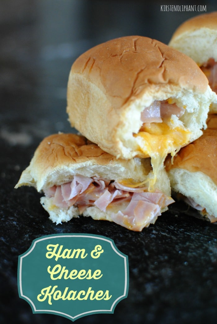 Easy ham and cheese kolaches with sweet rolls.