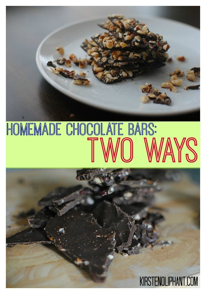 Inspired by Willy Wonka, these homemade chocolate bars two ways are simple and delicious! #blogfilmfood