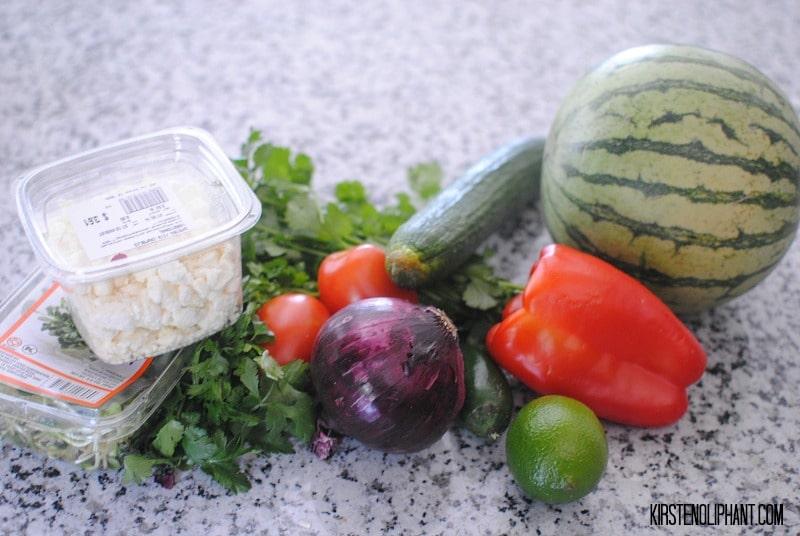Fresh ingredients make this watermelon gazpacho wholly satisfying.