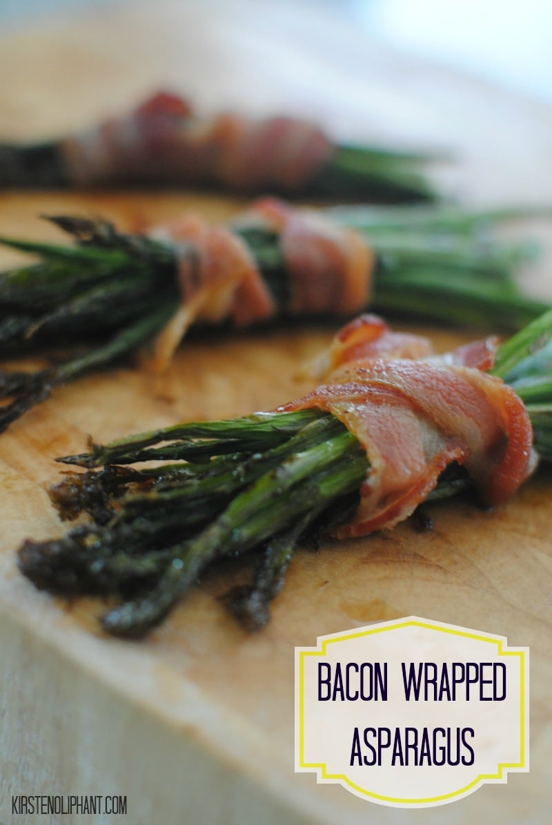 Love this super simple side: bacon wrapped asparagus