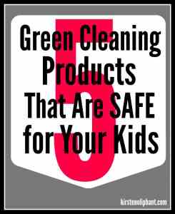 Five Green Cleaning Products that are kid-safe as well!