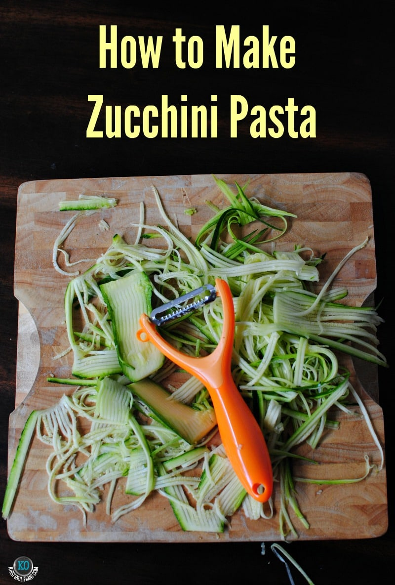How to make zucchini pasta in five minutes.