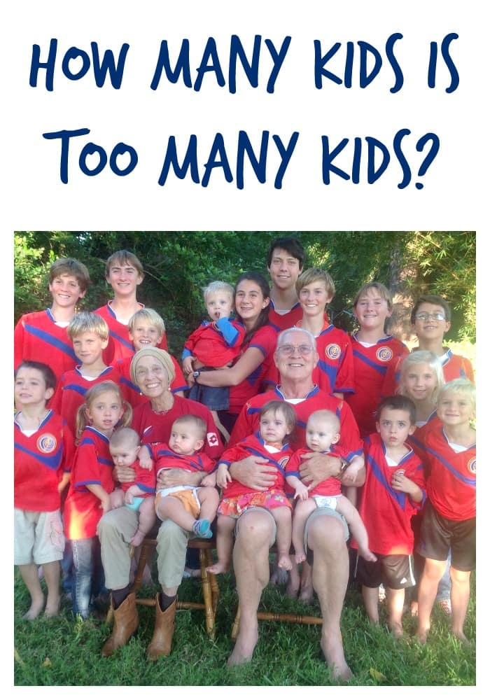 Is there a perfect number of kids? How many kids is TOO many? A lot of people love to think they have the answer. But IS there an answer?