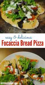 This fresh alternative to traditional pizza pairs a focaccia bread dough with garlic, roasted tomatoes, feta, and an arugula salad. Plus the dough can double for a great traditional homemade pizza!
