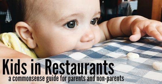 kids in restaurants Facebook