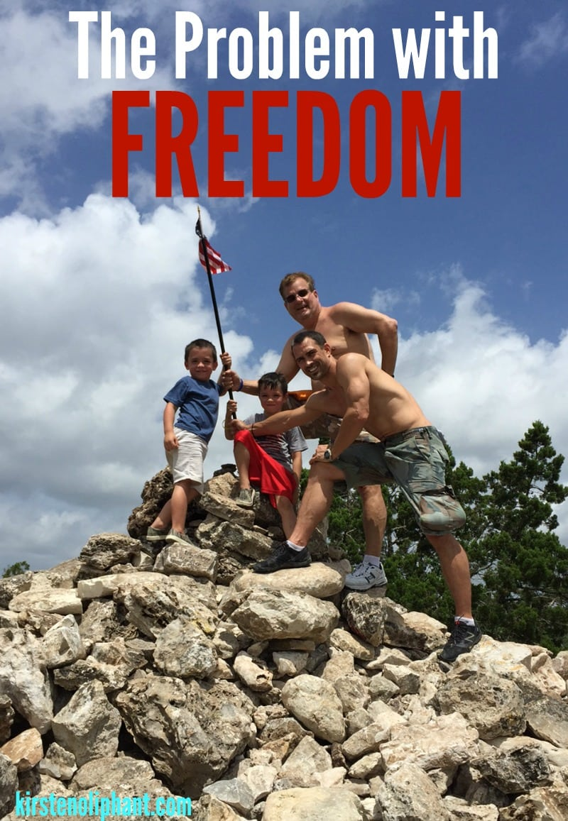 The problem with freedom is that it is never REALLY free. What is the cost and why you might consider giving your freedom away.