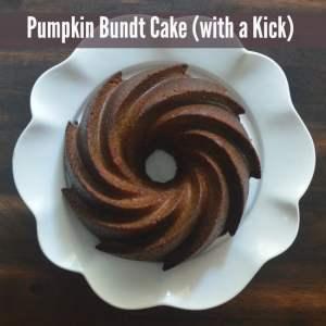Pumpkin Bundt Cake with a KICK