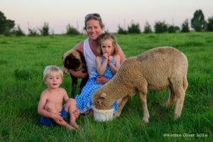 Family portrait on the farm