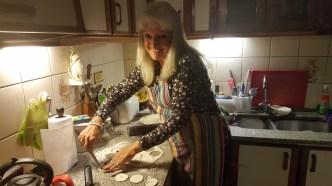 Host mom making sopaipillas!