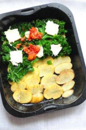 grønkåls- ogkartoffellasagne f
