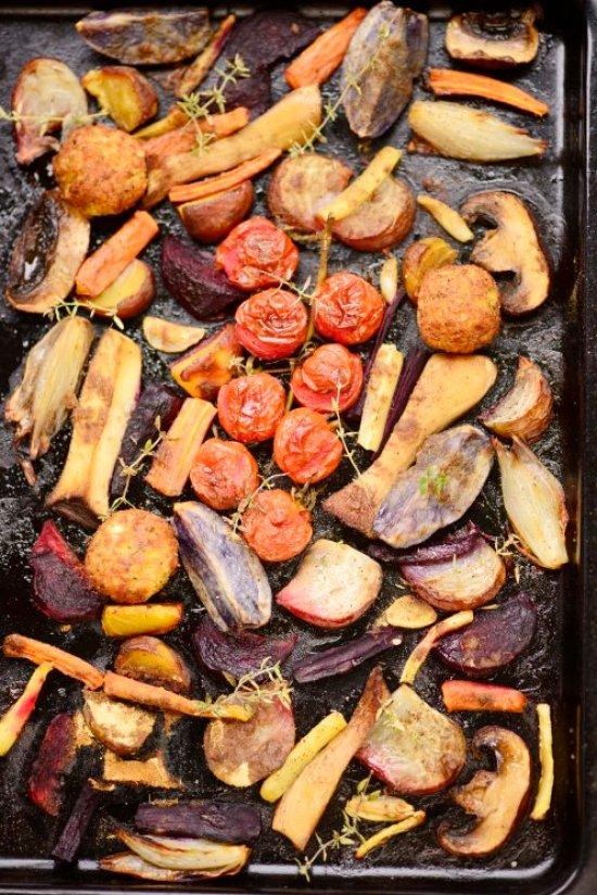 ovnbagte grøntsager m lakrids
