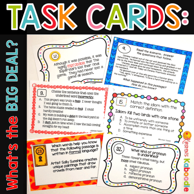 Why You Should Use Task Cards in Your Classroom