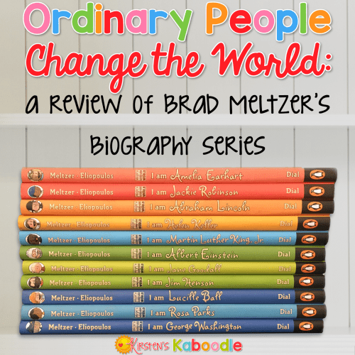 """Are you looking for a fun way to teach your students or children about important historical figures without boring them to death? Brad Meltzer has you covered! His """"Ordinary People Change the World"""" series infuses engaging text with bright illustrations, for just the right combination of facts and fun. People of all ages will love the I AM book series by Brad Meltzer!"""