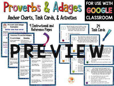 Proverbs and Adages Activity with Digital Option PREVIEW