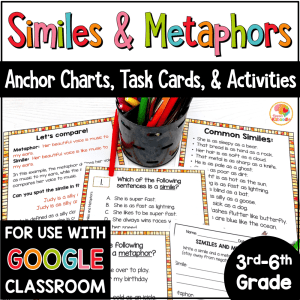 Similes and Metaphors Activities with Digital Option COVER