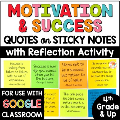 Motivation and Success Quotes on Sticky Notes COVER